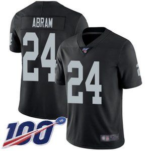 Raiders Johnathan Abram 100th Season Jersey